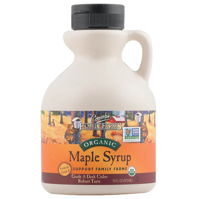 Coombs Family Farms, Miel de Maple Orgánica, Grado A Obscura (Antes Grado B) 473 ml