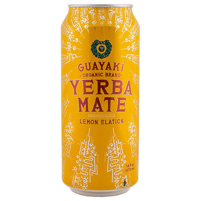 Guayaki, Yerba Mate Lemon Elation, Limón, 473 ml