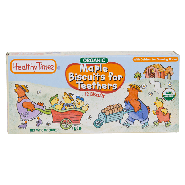 Healthy Times, Galletas de Maple para la dentición, Orgánicas 12 pz, 168 g