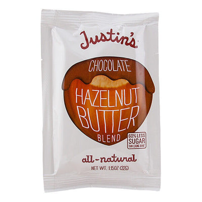 Justin's, Crema de Avellanas y Chocolate, natural, paquete exprimible, 32 g