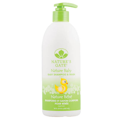 Nature's Gate, Shampoo y Wash para Bebés, 532 ml