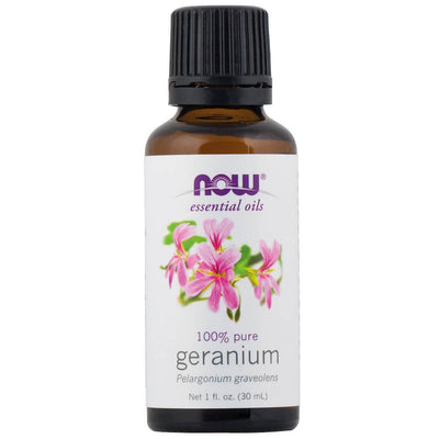 Now, Essential Oils, Aceite Esencial de Geranio, 30 ml