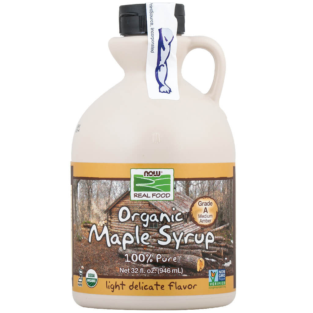 Now, Jarabe de Maple Orgánico, Grado A, Ambar Medio, 946 ml