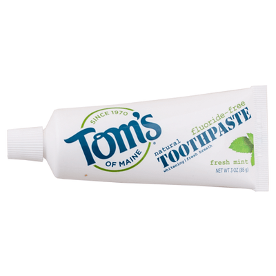 Tom's of Maine, Pasta Dental para Viaje, Sin Fluoruro, Menta Fresca, 85 g