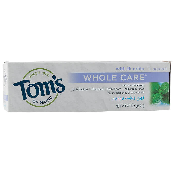 Tom's of Maine, Pasta Dental Cuidado Total con Fluoruro, Menta en Gel, 133 g