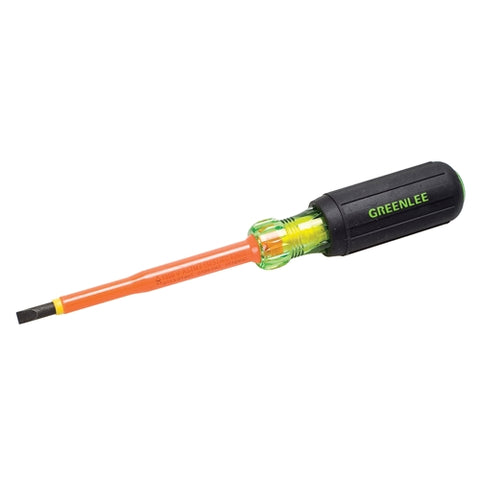"Greenlee 0153-21-INS 3/16""X4"" Insulated Cabinet Tip Screwdriver"