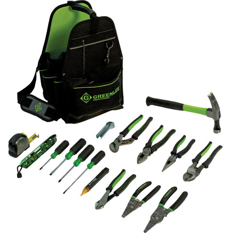 "Greenlee 0159-17ELEC 17 Piece 11"" Open Tool Carrier Kit"