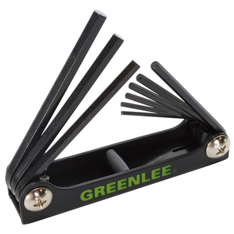 NEW GREENLEE 0254-11 WRENCH,HEX-KEY SET 9 PC STD FOLDING FREE SHIPPING
