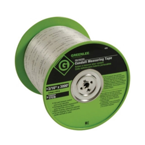 Greenlee 435 Conduit Measuring Tape 3000 ft x 3/16""
