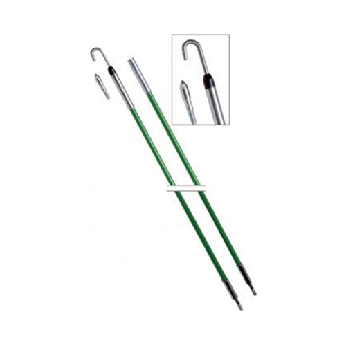 "Greenlee 540-12 1/4"" x 12' Fish Stix Kit with Bullet Nose and J Hook Threaded Tips"