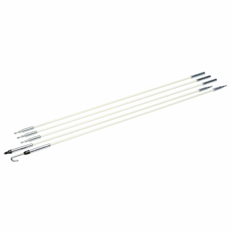 "Greenlee 540-8M 3/16"" x 8' Long Glo Stix Kit with Bullet and ""J"" Hook Nose Tips"