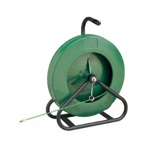 "Greenlee 542-250 250' x 3/16"" Fiberglass Fish Tape in Reel Stand"