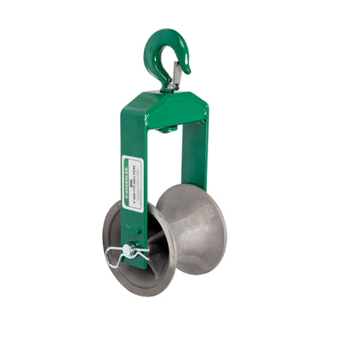 "Greenlee 650 6"" Hook-Type Sheave for Easy Tugger and Tugger"
