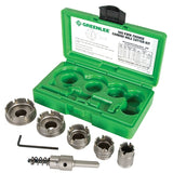"Greenlee 660 Quick Change Stainless Steel Hole Cutter Kit (7/8"", 1-1/8"", 1-3/8"", 1-3/4"", 2"")"