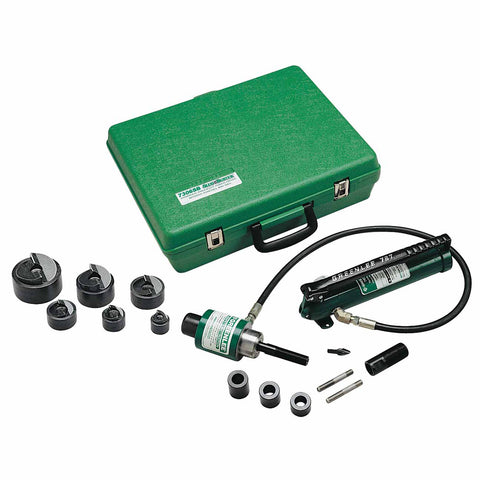 "Greenlee 7306SB 1/2"" through 2"" Slug-Buster Ram and Hand Pump Hydraulic Driver Kit"