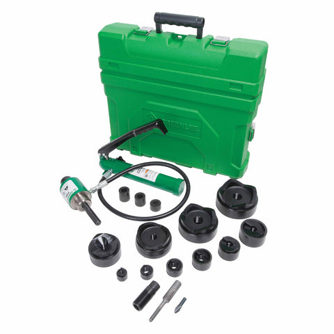 "Greenlee 7310SB 1/2"" through 4"" Slug-Buster Ram Knockout and Hand Pump Hydraulic Driver Punch Kit"