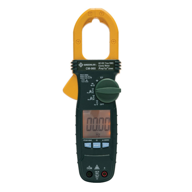 Greenlee CM-960-C 600 Amp AC & DC TRUE RMS Clamp Meter - Calibrated