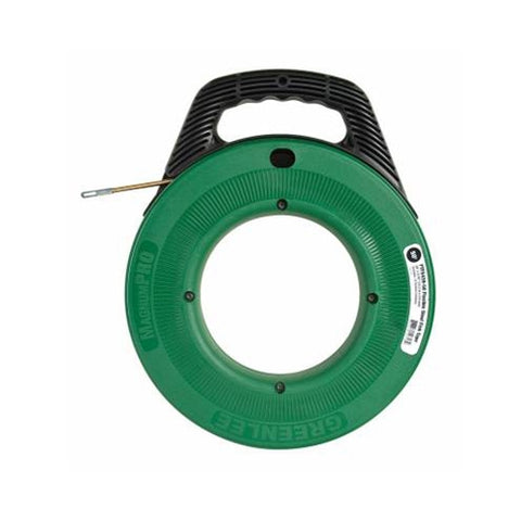 "Greenlee FTFS439-50 MagnumPro Flexible Steel Cable Fish Tape with Case 3/16"" x 50'"