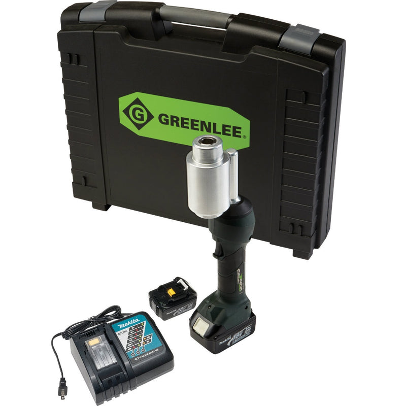 Greenlee LS100X11A INTELLIPUNCH 11-Ton Set, with Case & Battery