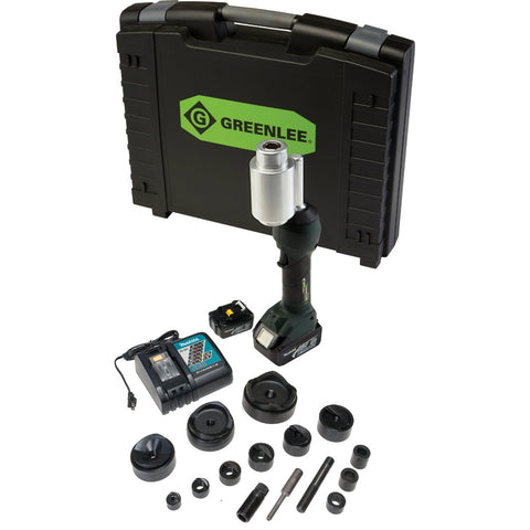 "Greenlee LS100X11SB4X INTELLIPUNCH 11-Ton Set, SB 1/2"" - 3"" and 4"""