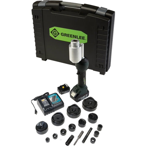 "Greenlee LS100X11SB4 INTELLIPUNCH 11-Ton Set, SB 1/2"" - 4"""