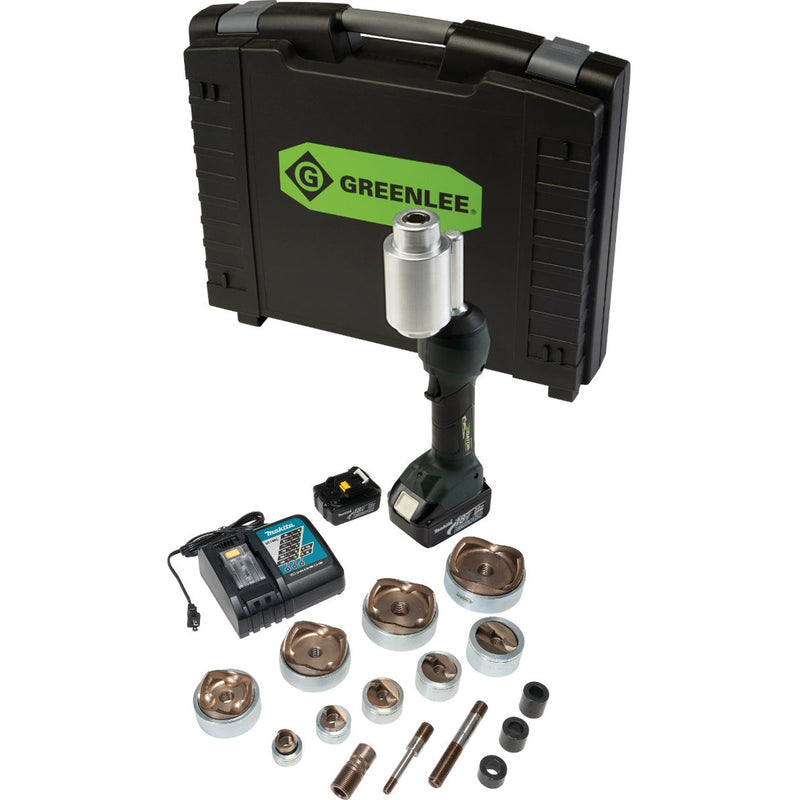 "Greenlee LS100X11SS4 INTELLIPUNCH 11-Ton Set, SS 1/2""-4"""