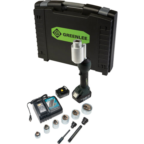 "Greenlee LS100X11SSSP Intelli-Punch 11-Ton Tool with SlugBuster SpeedPunch Knockouts 1/2"" - 2"""