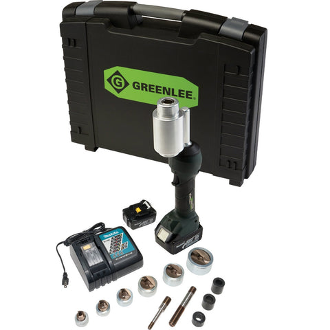 "Greenlee LS100X11SS INTELLIPUNCH 11-Ton Set, SS 1/2""-2"""