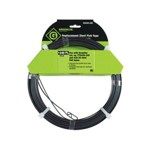 "Greenlee RS438-240 Replacement Steel Fish Tape 1/8"" x 240'"