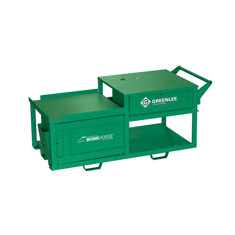 Greenlee WK100-B Workhorse All-In-One Bending and Threading Workstation, Bare Cart Only