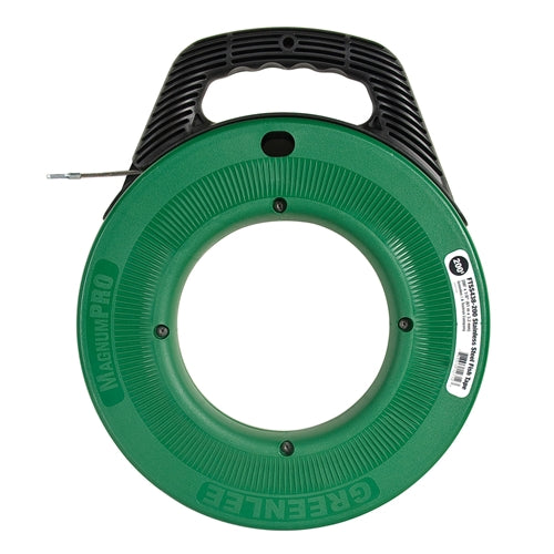 Greenlee FTSS438-200 MagnumPro 1/8in x 200ft Stainless Steel Fish tape with Case