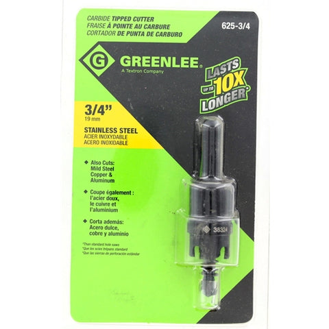 "Greenlee 625-3/4 3/4"" Carbide-Tipped Hole Cutter"