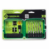 Greenlee LDTAPKIT 6 Piece Long Drill/Tap Kit with Quick Change Adapter