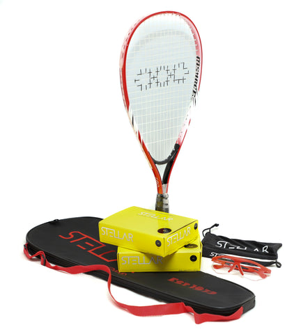 A Terrific Junior Racquet, Eyewear & Squash Balls Bundle