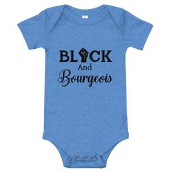 Black and Bourgeois Onesie