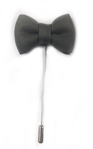 Grey Bow Tie Lapel Pin | G+Co. Apparel