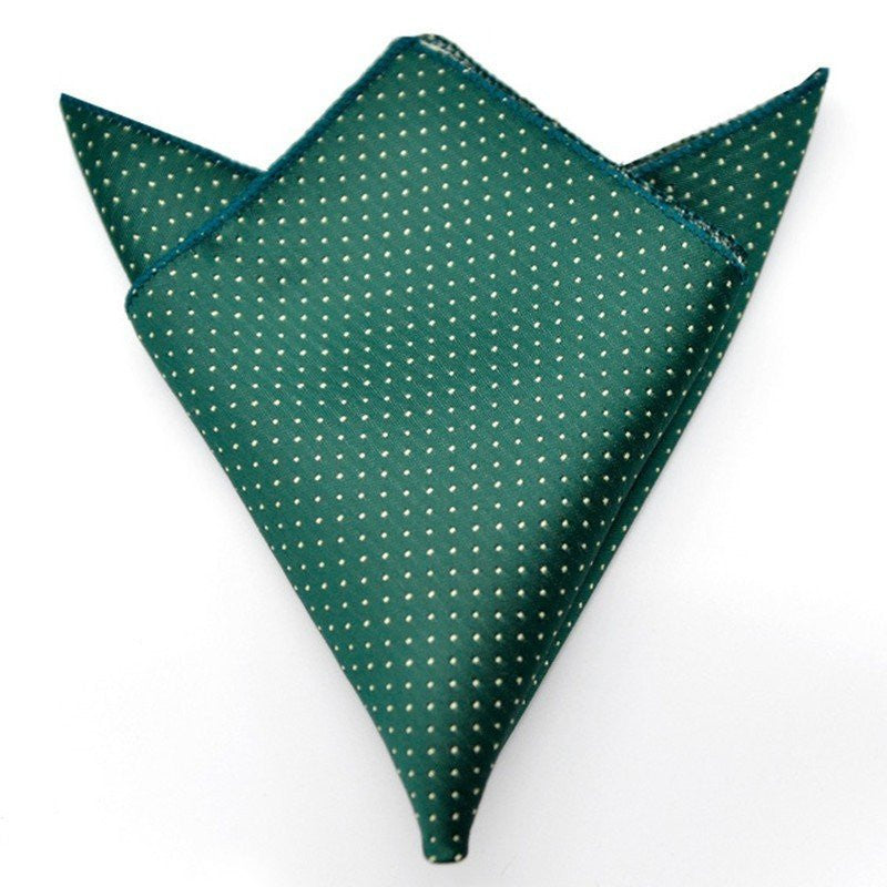 Green and White Polka Dotted Pocket Square | G+Co. Apparel
