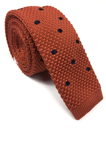 Orange Dot Knit NeckTie | G+Co. Apparel