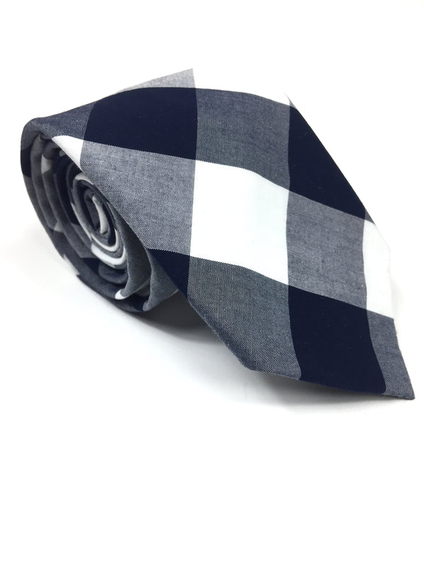 Navy & White Checkered NeckTie | G+Co. Apparel