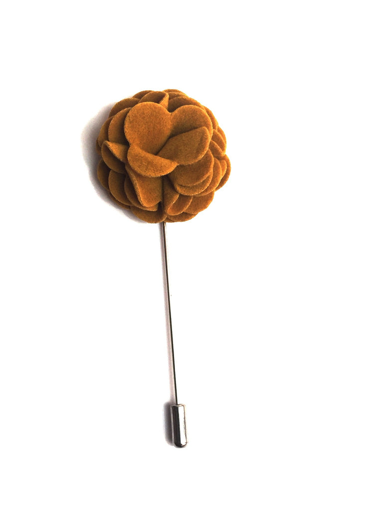 Medallion Yellow Flower Lapel Pin | G+Co. Apparel