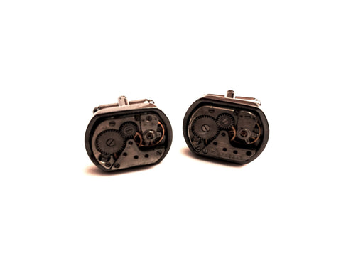 Metal Clockwork Custom Cufflinks | G+Co. Apparel