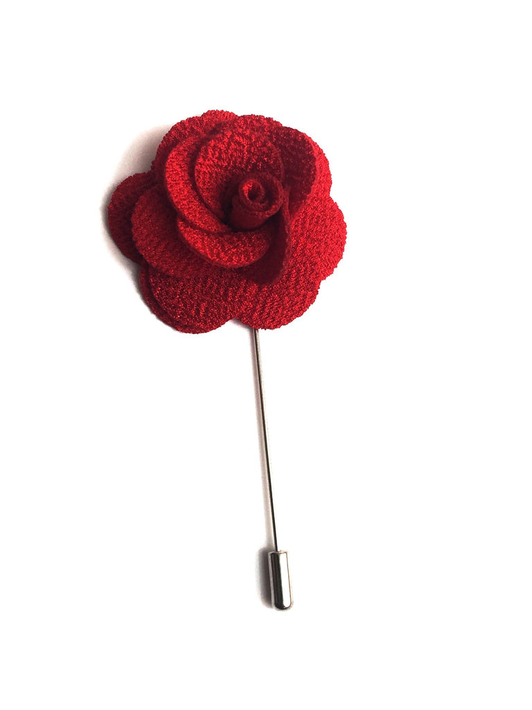 Accessories - Red Flower Lapel Pin