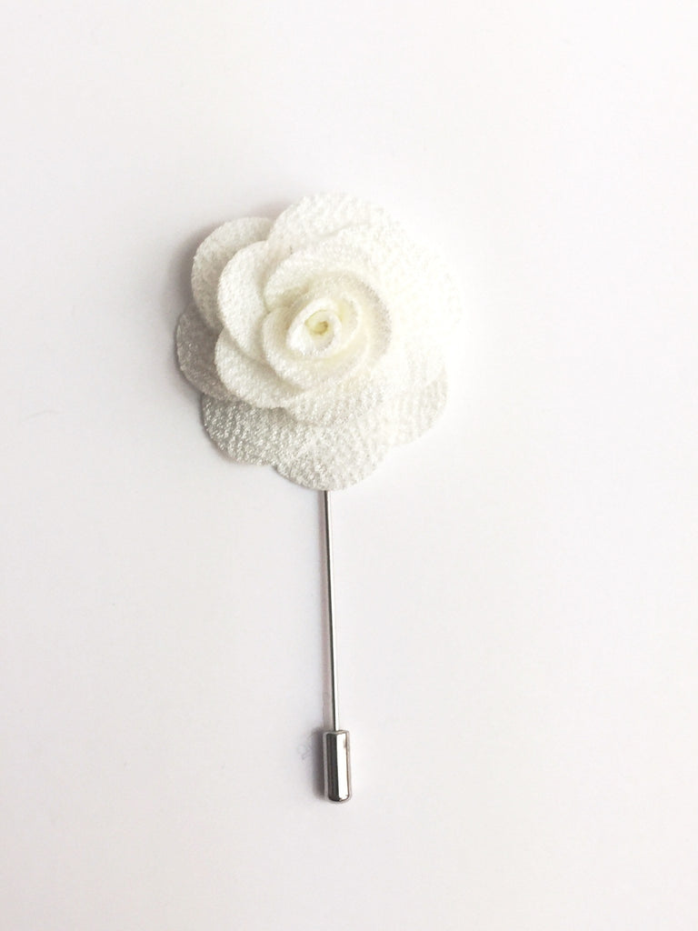 White flower lapel pin gco apparel mightylinksfo