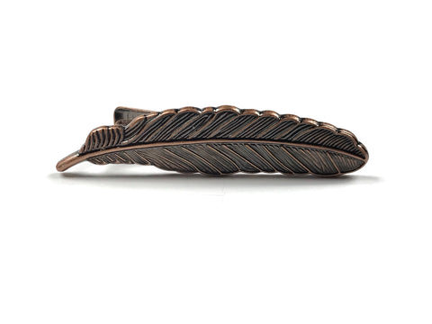 Rose Gold Feather Tie Bar