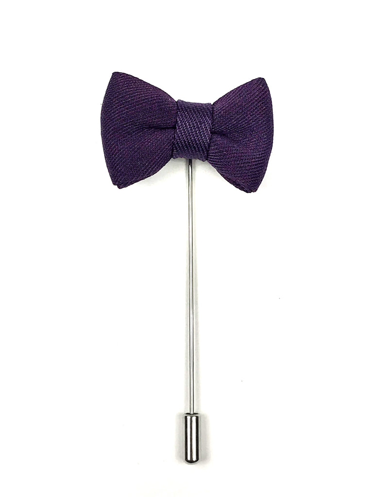 Purple Bow tie Lapel Pin