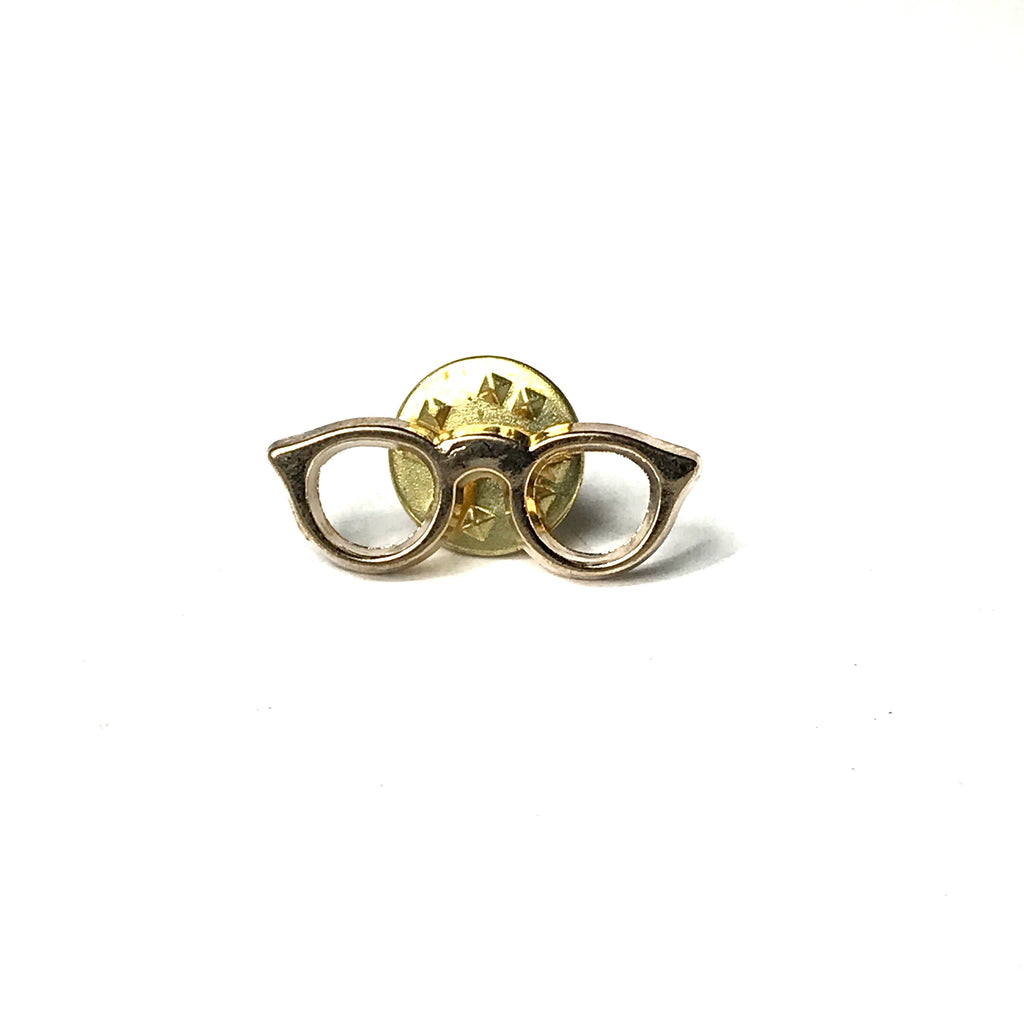 Gold Glasses Lapel Pin