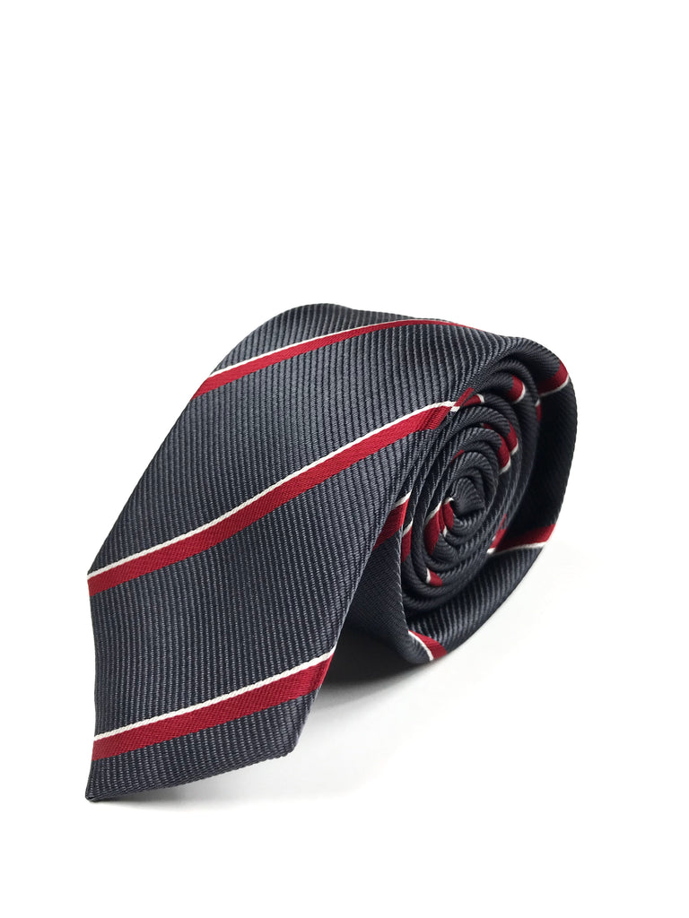 Black and Red Striped Tie