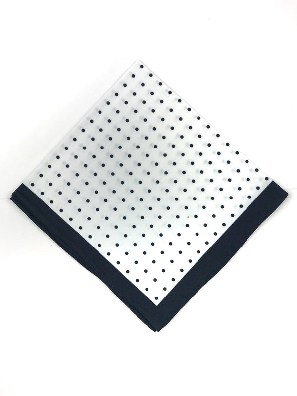 Navy Blue Polka Dot Pocket Square