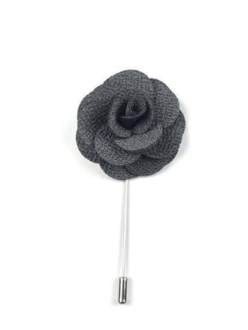 Grey Flower Lapel Pin