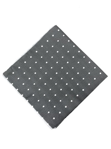 Wolf Grey Polka Dot Pocket Square